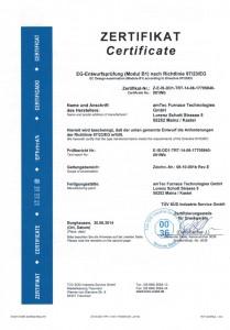 Zertifikat Modul B1 DB800_1000_F